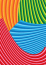 Vector illustration of colorful wave background curve Stock Image