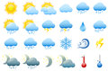 Vector illustration colorful weather icons Stock Photo