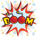 Vector illustration comic book like boom explosion Royalty Free Stock Photo