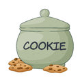Vector Illustration of Cookie Jar Royalty Free Stock Photo