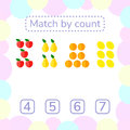 Vector illustration. counting game for preschool children.