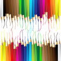 Vector illustration of crayon or color pencil Stock Photos