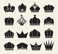 Vector illustration crown collection Royalty Free Stock Image