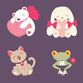 Vector Illustration Of Cute An...