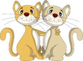 Vector illustration of cute couple cat Royalty Free Stock Images