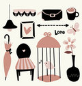 Vector Illustration of cute elements Royalty Free Stock Image