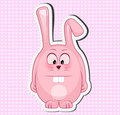 Vector illustration of cute rabbit Royalty Free Stock Photo
