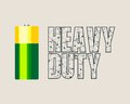 Vector illustration of cylinder battery
