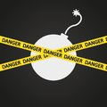 Vector illustration danger tape explosive this is file of eps format Royalty Free Stock Photos