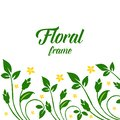 Vector illustration decoration yellow rose fower frames blooms for invitation cards