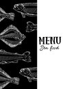 Vector illustration, design for a seafood restaurant menu