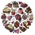 Vector illustration - Desserts