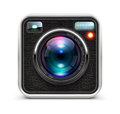 Vector illustration detailed icon representing cool photo camera lens Royalty Free Stock Photos