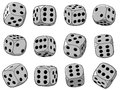 Vector illustration - dices set Royalty Free Stock Photo