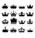 Vector illustration of different crowns Royalty Free Stock Images
