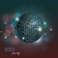 Vector illustration of disco ball