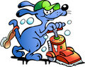 Vector illustration of an Dog Carpet Cleaner Royalty Free Stock Photo