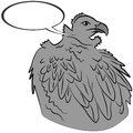 Vector illustration eagle Stock Photos