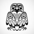 Vector illustration of an eagle modern stylization north american and canadian native art in black and white Stock Images