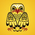 Vector illustration of an eagle modern stylization north american and canadian native art in traditional colors Stock Photo