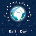 Vector illustration. Earth Day poster. Royalty Free Stock Photo