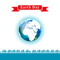 Vector illustration. Earth Day poster.