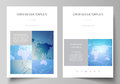 The vector illustration of the editable layout of A4 format covers design templates for brochure, magazine, flyer