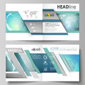 The vector illustration of the editable layout of two covers templates for square design bi fold brochure, magazine