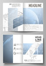 The vector illustration of the editable layout of two A4 format modern cover mockups design templates for brochure