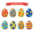 Vector illustration. Eggs for Easter holidays design on w