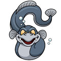 Electric eel cartoon Royalty Free Stock Photo