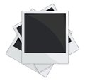 Vector illustration of the empty photo frames on white background Stock Photography
