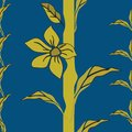 Vector Illustration of an eternal whimsical stylized plant with golden yellow flowers