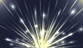 Vector illustration with the explosion and bright rays Royalty Free Stock Photo