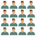 Vector illustration of a face expressions