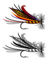 Vector illustration of fishing fly Stock Photos