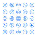 Vector illustration of flat Line set icon. Graphic design concept of Business.