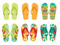 Vector Illustration of Flip flop Royalty Free Stock Photos