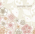 Vector Illustration of flower text Royalty Free Stock Images