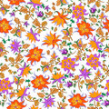 Vector illustration of flowers pattern