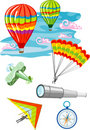 Vector illustration of flying objects Stock Image