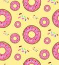 Vector illustration, food, pattern, donuts