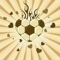 Vector illustration of football.