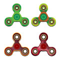 Vector illustration four spinners of different texture and colors on a white background Royalty Free Stock Photo