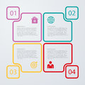 Vector Illustration Of Four Sq...
