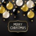 Frame With Christmas Greeting ...