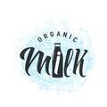 Vector illustration of fresh dairy milk logo background