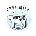 Vector illustration of fresh milk from the farm