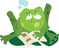 Vector illustration frog Stock Images