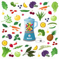 stock image of  Vector Illustration of fruits, vegetables and herbs